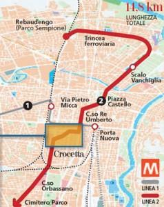 Metro2-Tracciato