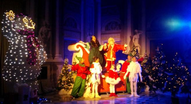 Altea e Babbo Natale sulla slitta